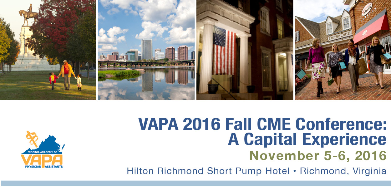 VAPA 2016 Fall CME Conference,                         November 5 - November 6, 2016,